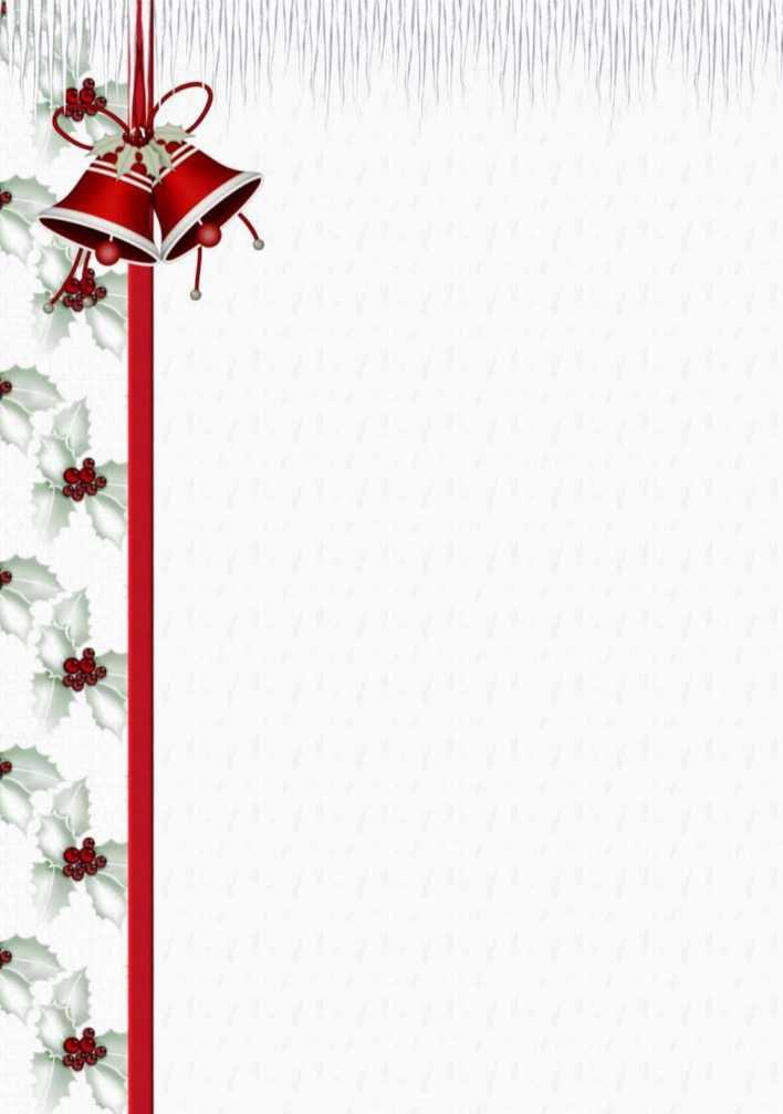 Free Printable Christmas Stationery Template Page 1
