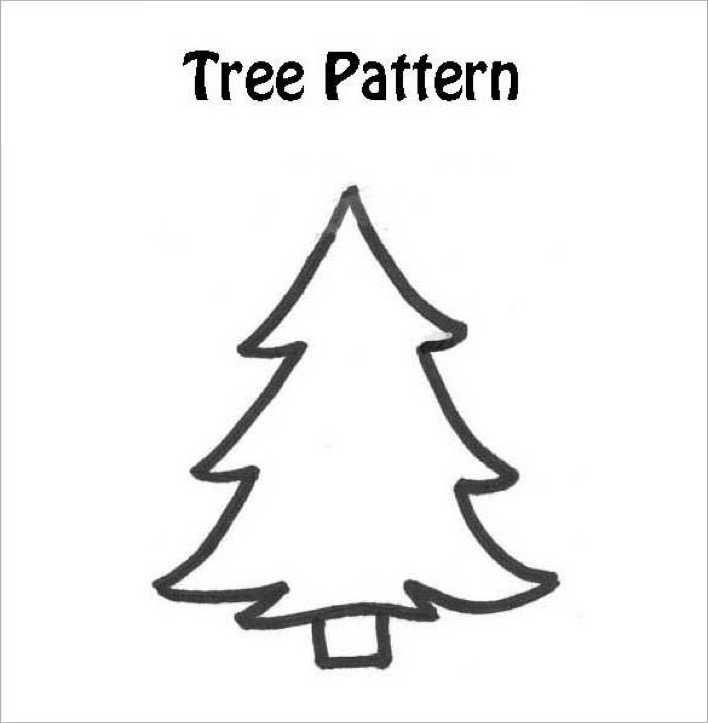 Free Printable Christmas Tree Template Page 1
