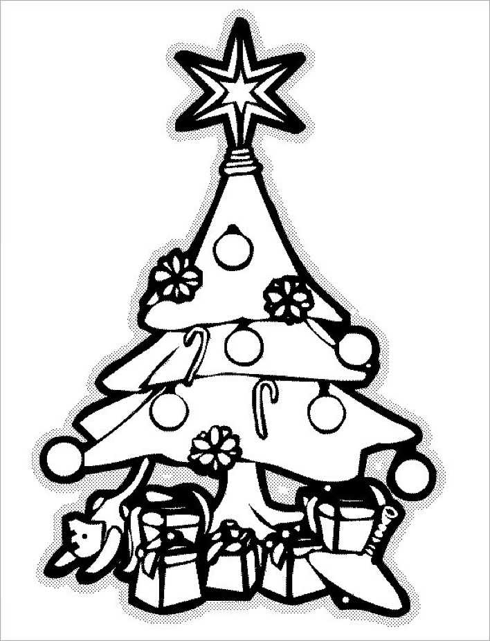 Free Printable Coloring Pages Christmas Tree Page 1