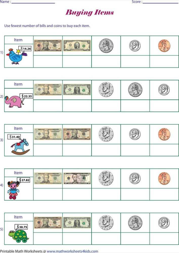 Download Free Printable Money Math Worksheet Pdf For Free