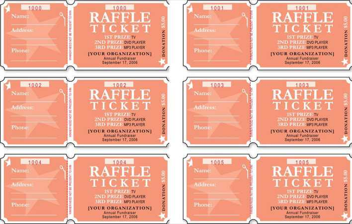 Free Raffle Ticket Template Word Format Page 1