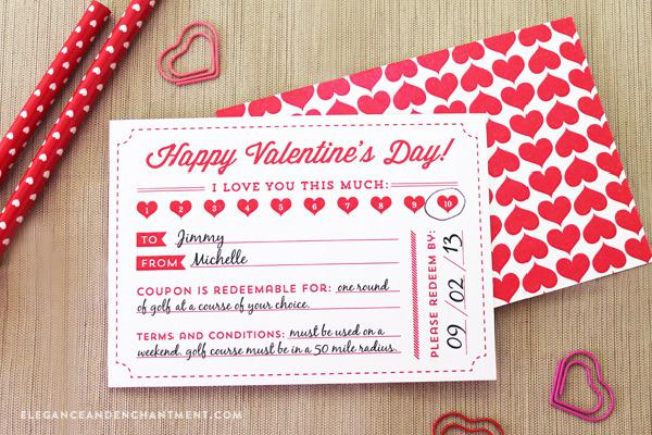 Free Valentine's Day Coupon Template Page 1