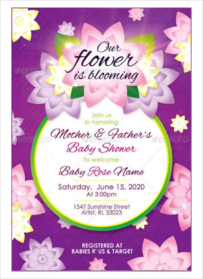 Girl Baby Shower Ticket Invitation Page 1
