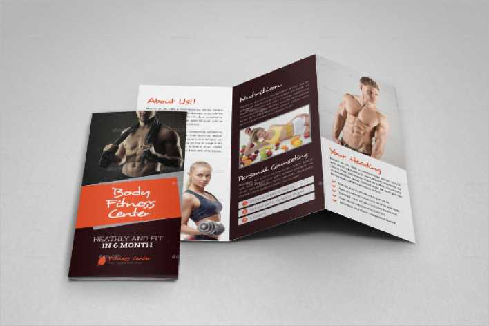 Download Gym Fitness Trifold Brochure Indesign Template for Free