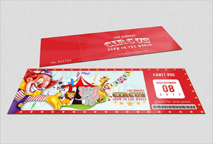 Handmade Circus Ticket Template Page 1