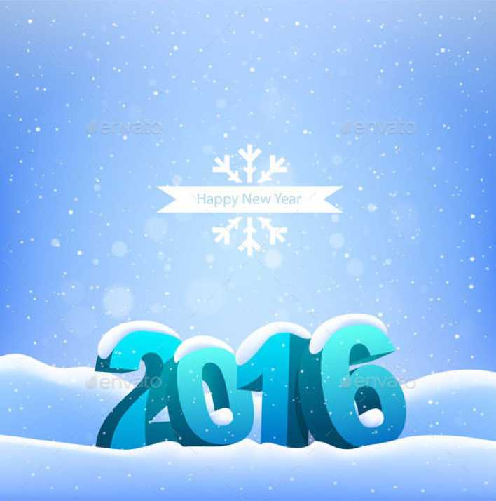Happy New Year 2016 Greeting Card Background Download Page 1