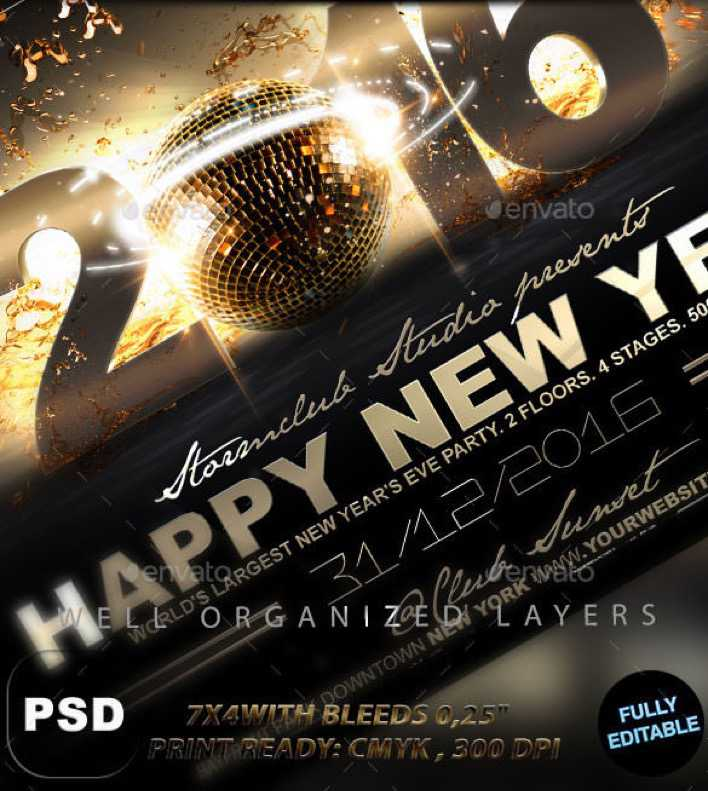 Happy New Year Flyer Template PDS Design Page 1