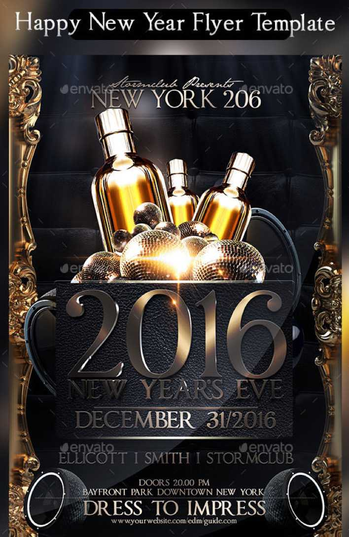 Happy New Year Flyer Template PSD Format Page 1
