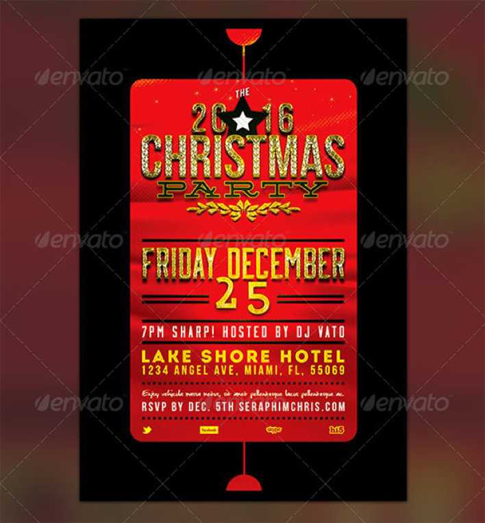 Holiday Flyer Template for Christmas Party Page 1