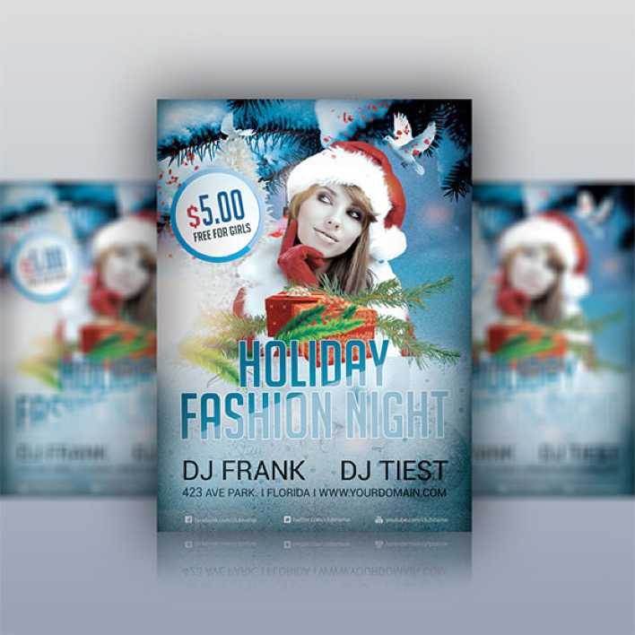 Holiday Party Flyer Fashion PSD Template Page 1