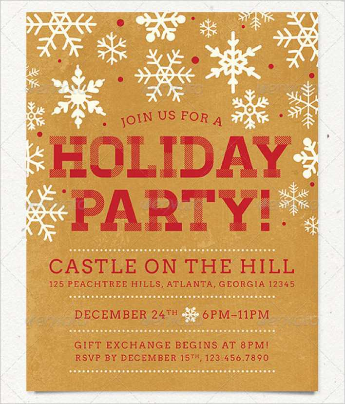 Holiday Party Flyer Template in 2 Color Schemes Page 1