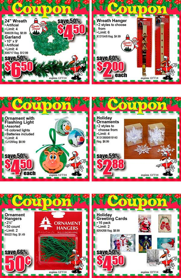 Holiday Sample Coupon Book Template Page 1