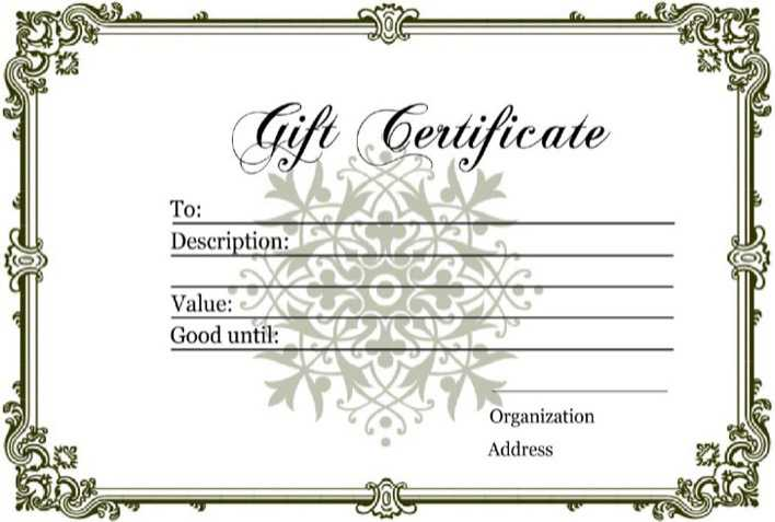 Download Homemade Gift Certificate Template For Free Tidytemplates