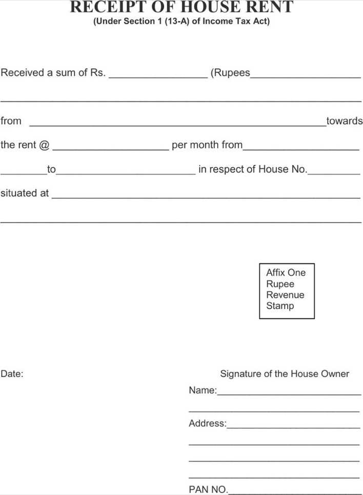 Download House Rent Receipt Template For Free Tidytemplates