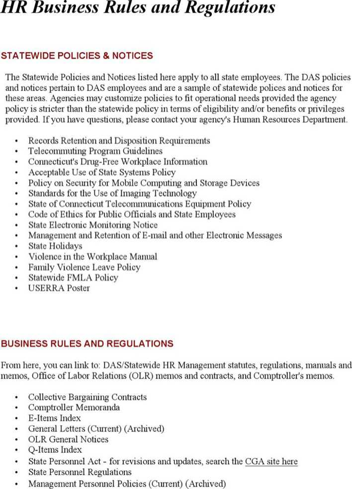 hr rules and regulations for employees pdf