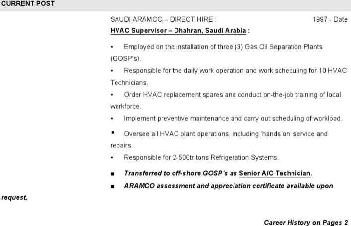 Download Hvac Supervisor Resume Free Word Downlaod for Free