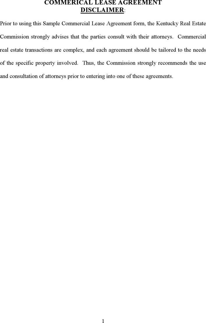 Download Kentucky Commercial Lease Agreement For Free Tidytemplates