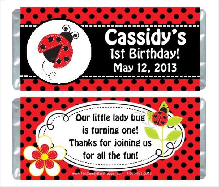 Ladybug Birthday Party Wrappers Template Download Page 1