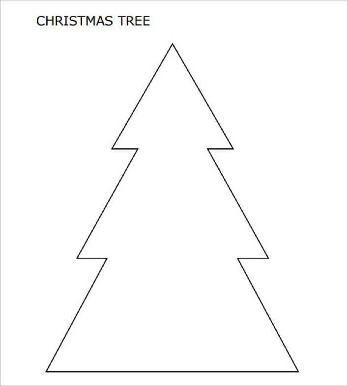 Large Christmas Tree with Pointed Corners PDF Page 1