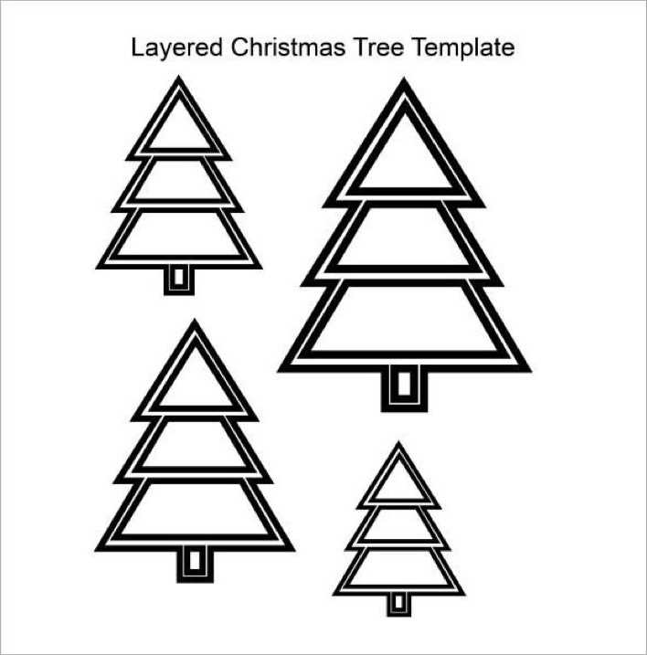 Layered Christmas Tree Template PDF Download Page 1