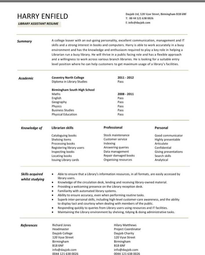 Ultrasound Technician Resumes: Download Librarian Assistant Resume For Free