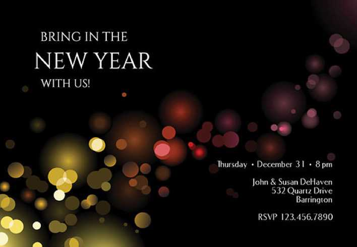 Luminous Editable New Year Invitation Template Download Page 1