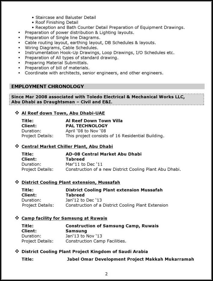 Download Mechanical Autocad Draftsman Resume for Free | Page 2