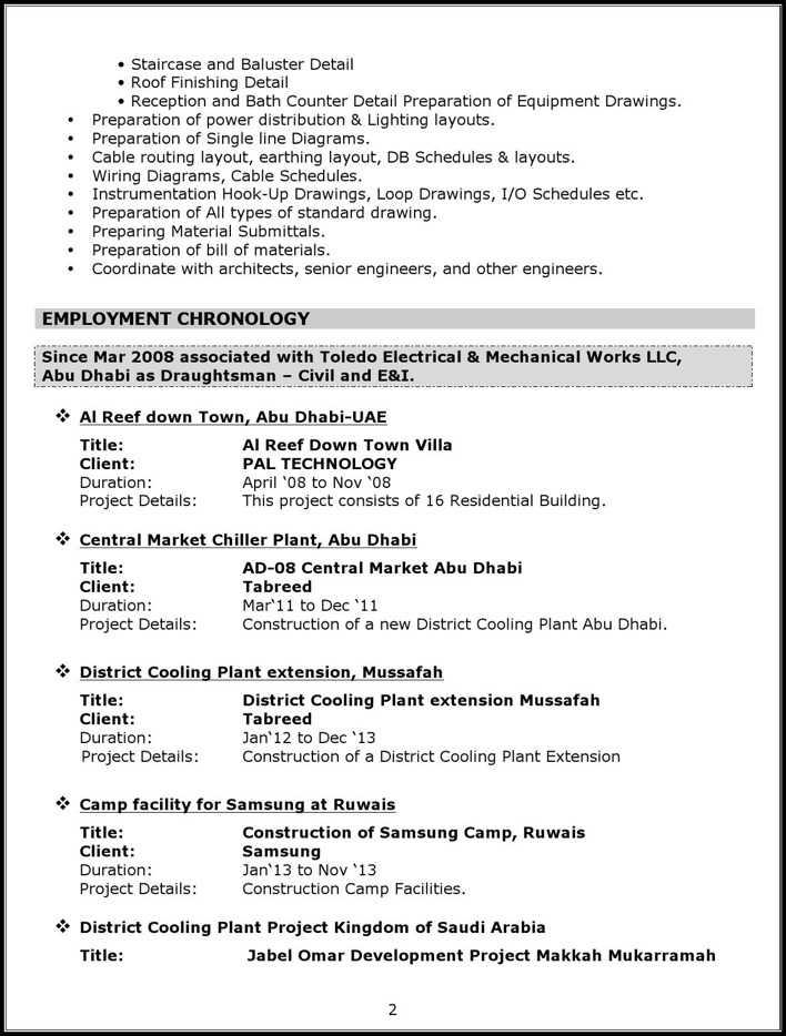 download mechanical autocad draftsman resume for free
