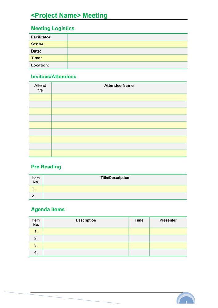 word templates meeting agenda