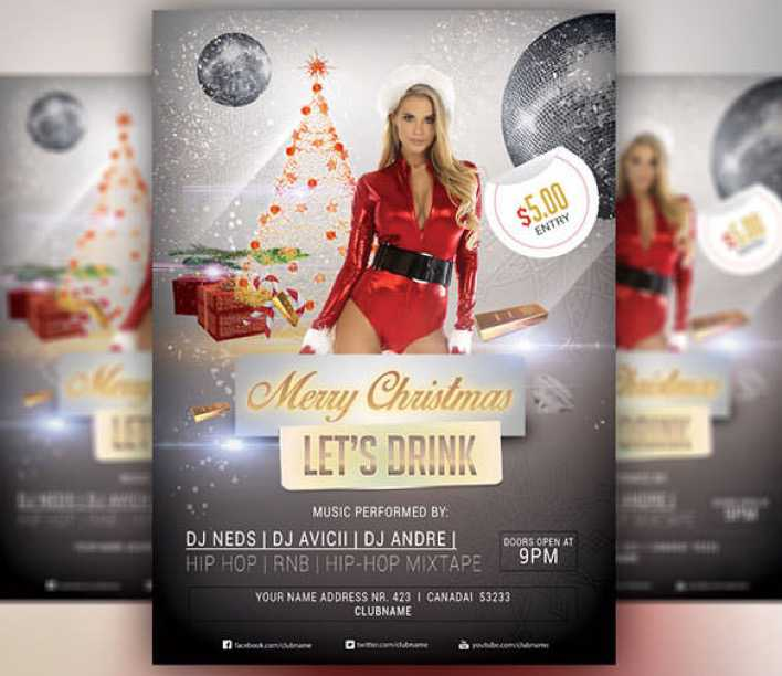 Merry Christmas 2015 PSD Design Download Page 1