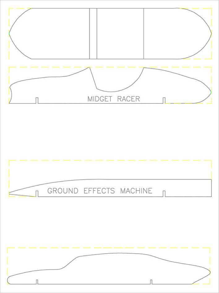 Midget Racer Pinewood Derby Template Page 1