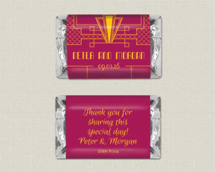 Mini Sized Art Deco Personalized Candy Wrappers Download Page 1