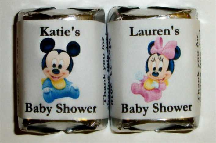 Minnie Mouse BABY SHOWER Candy Wrappers Template Page 1
