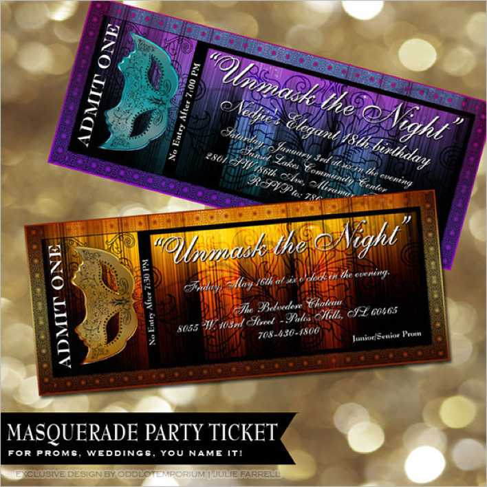 Movie Prom Ticket Template Page 1