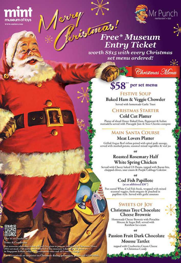 Mr Punch Restaurant Christmas Menu Template Download Page 1
