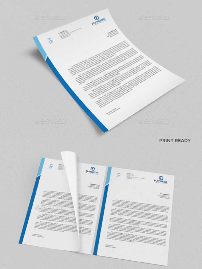 MS Word Doc Letterhead Template Page 1