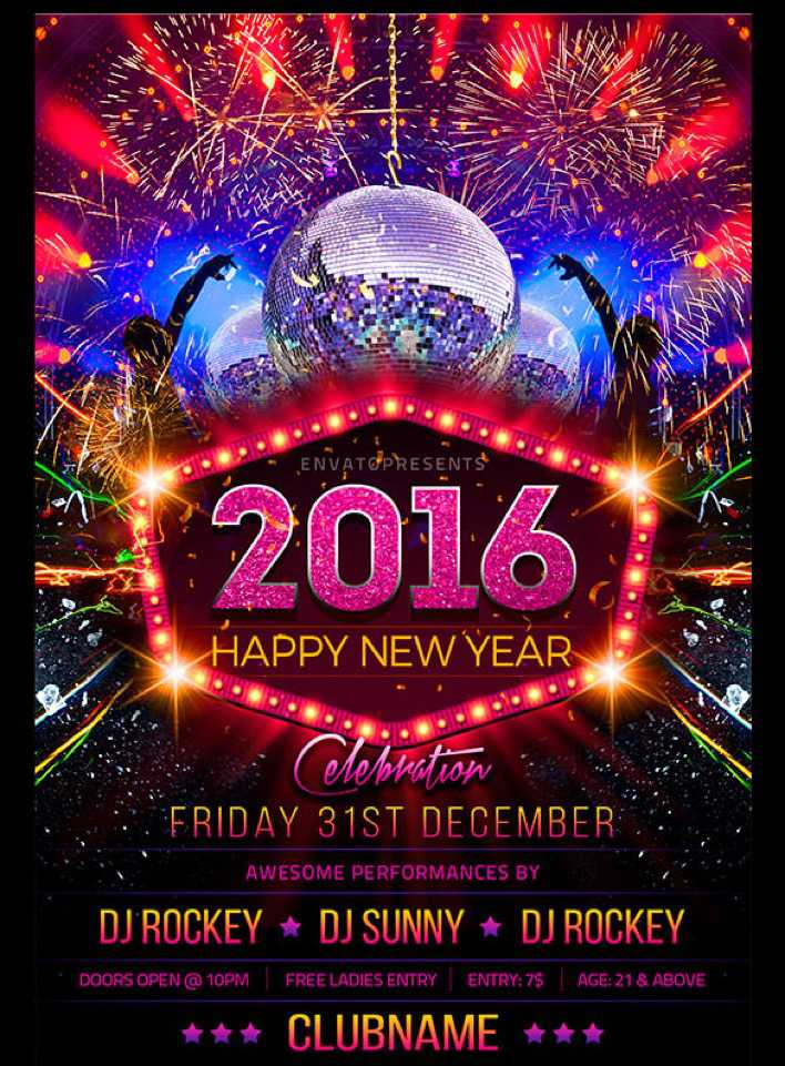 New Year Flyer Template Easy Editable Download Page 1