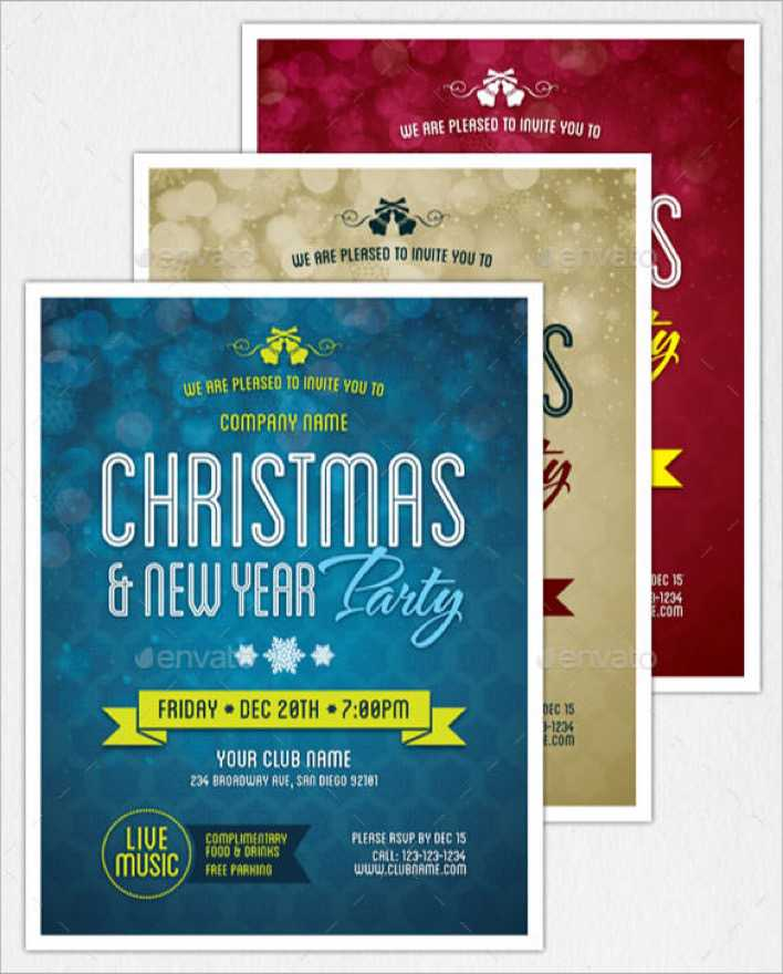 New Year Party Flyer & Invitation Template EPS Format Page 1