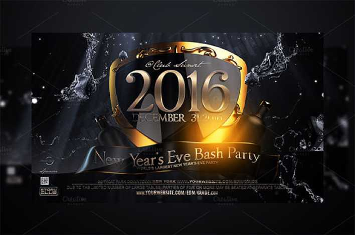 New Years Eve Flyer Template Premium PSD Download Page 1