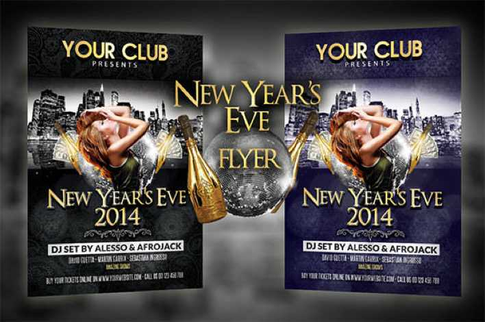 New Years Eve Party Flyer Template Download Premium PSD Page 1