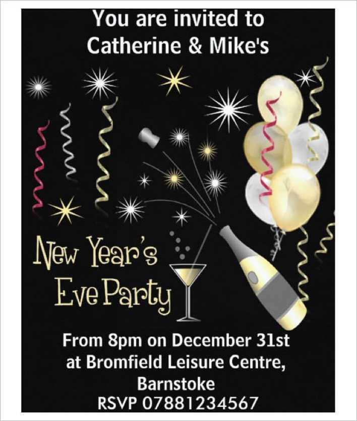 New Years Eve Party Invitation Template Download Page 1