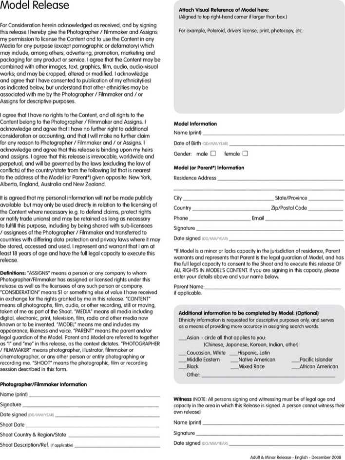 Download New York Model Release Form 1 for Free - TidyTemplates