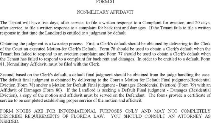Download Nonmilitary Affidavit for Free - TidyTemplates