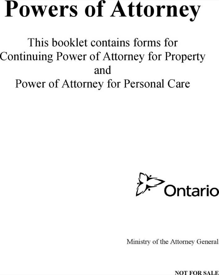 Power Of Attornety Ontario Property Gifts