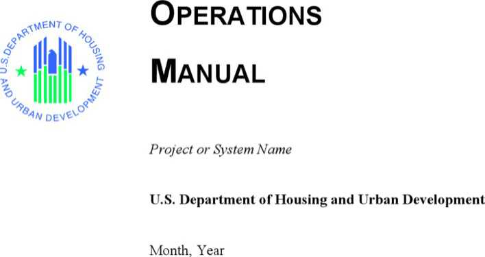 Operation Manual Template Word Page 1
