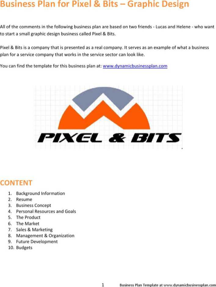 Download Orange Pixel Bits Business Proposal Example for
