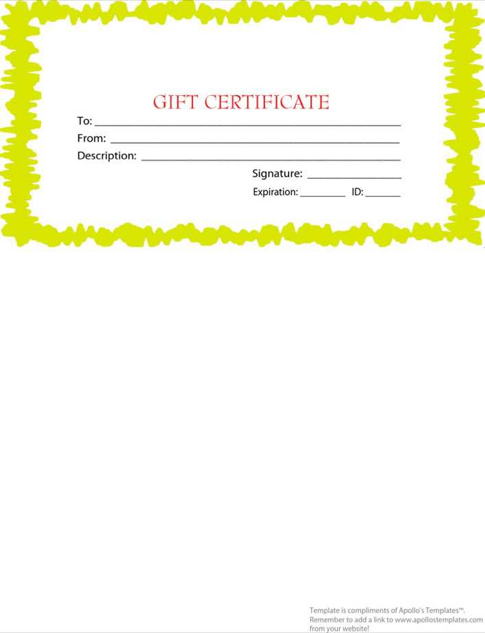 Download Pdf Format Holiday Gift Certificate Free Template1 For Free
