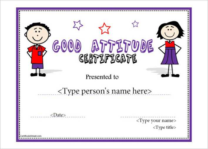 download perfect attendance template certificate sample for free