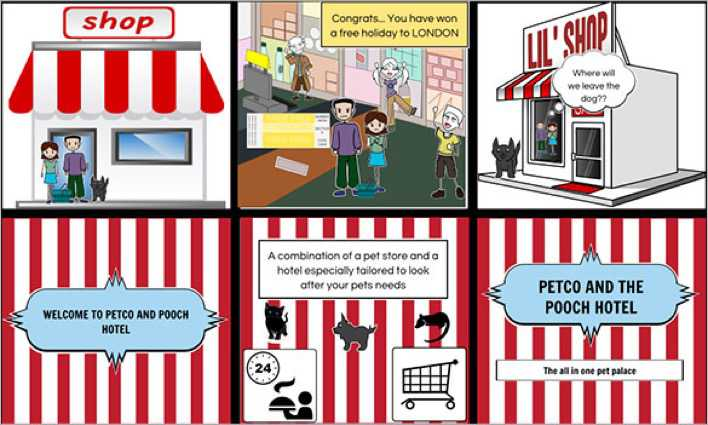 Pet Hotel Commercial Storyboard Template Example Page 1
