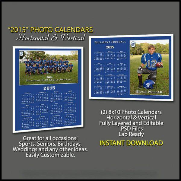 Photo Calendar Template for Birthday Page 1